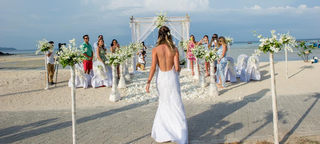 O nosso casamento na Tailândia, na praia de Koh Phi Phi